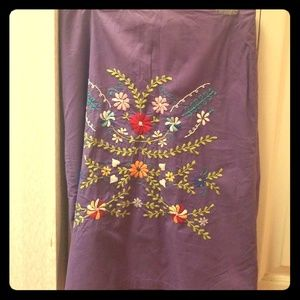 Free People mid-length purple flower skirt, size S
